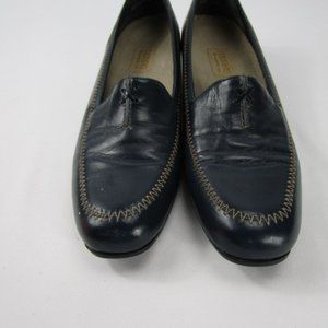 Navy Blue Leather Loafers By Munro size 7.5-USA